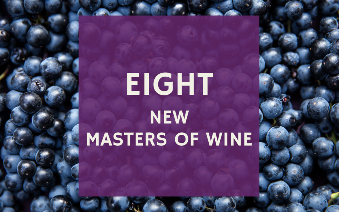 Eight new Masters of Wine
