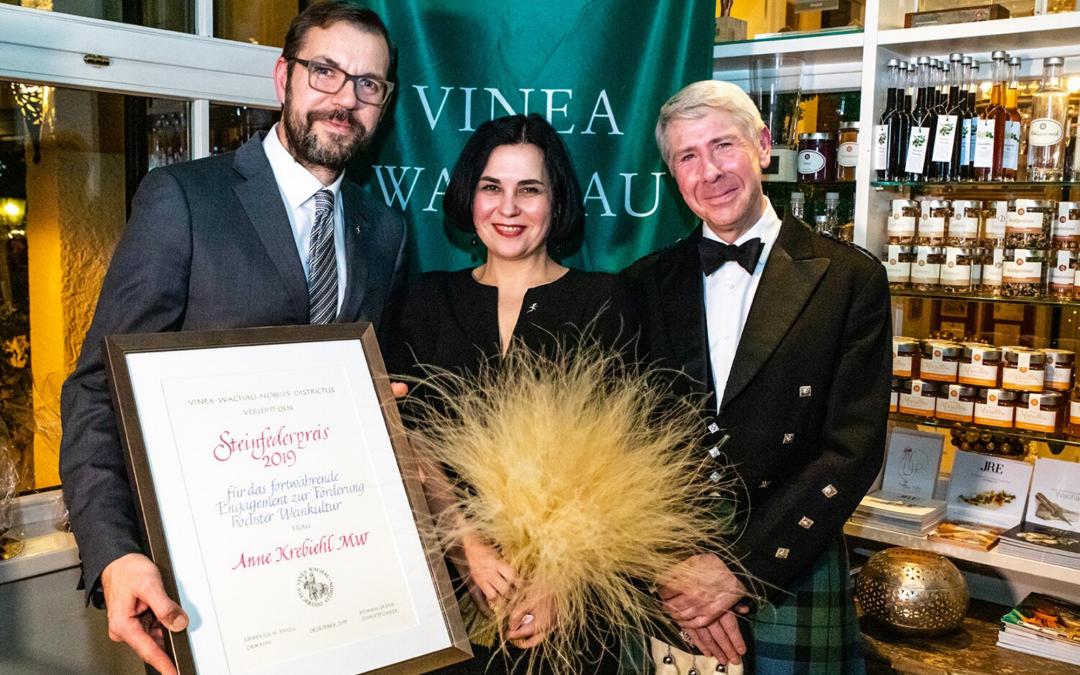 2019 Vinea Wachau Steinfeder Prize awarded to Anne Krebiehl MW
